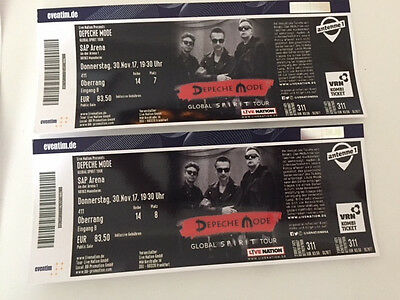 depeche mode tickets karten mannheim sap arena eur 156 00 picclick de. Black Bedroom Furniture Sets. Home Design Ideas