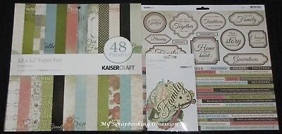 "Kaisercraft 'GENERATIONS' 12x12"" Complete Paper Pk Family/Heritage KAISER"