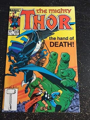 Mighty Thor#343 Incredible Condition 9.0(1984)Fafnir App, Simonson Art!!