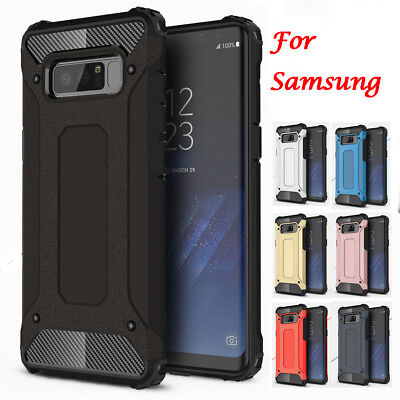 Rugged Armor Rubber Heavy Duty Hybrid Shockproof Cover Case For Samsung Galaxy