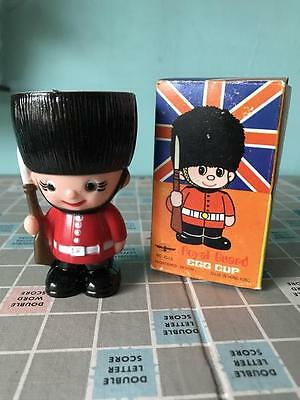 vintage soldier egg cup Boxed 70s 80s Retro Kitsch