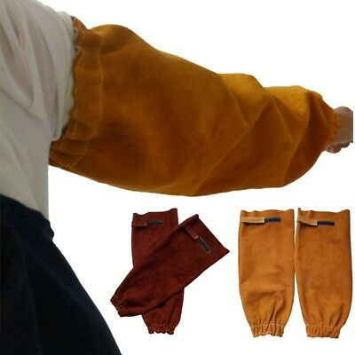1 Pair Welding Sleeves Split Leather Splatter Heat Repairing Arm Protective Gear