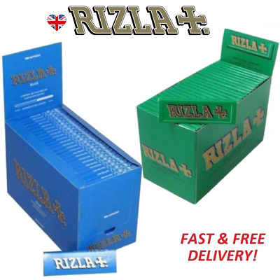RIZLA REGULAR GENUINE GREEN BLUE Cigarette Rolling Papers ORIGINAL Fast Delivery