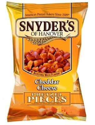 Snyders of Hanover Pretzel Snack Cheddar Cheese 10 x 125g