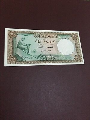 Syria 50 Pounds 1973  Rare
