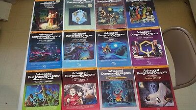 Advanced Dungeons and Dragons Modules Lot of 12