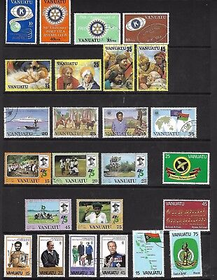 Vanuatu - A4 sheet of sets - Used - Nice cancellations