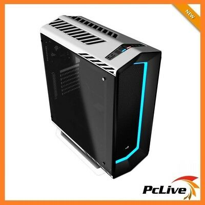Aerocool P7-C1 White Case Tempered Glass 8 Color LED Gaming Mid Tower Quiet ATX
