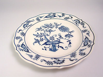 blue onion bread plate Blue Danube replacement china Japan Ribbon Backstamp