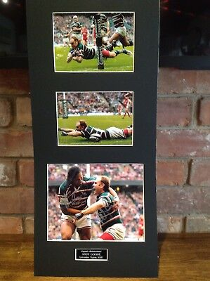 """Leicester Tigers RFC. Andy Goode And Alex Tuilagi.10"""" X 15"""" Signed Photo."""