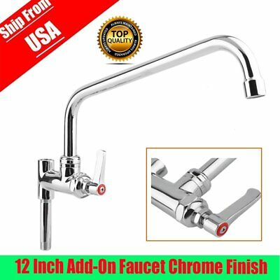 """NEW AT Faucet Commercial Pre-Rinse 12"""" Add-On Faucet NSF Certified & Low Lead EW"""