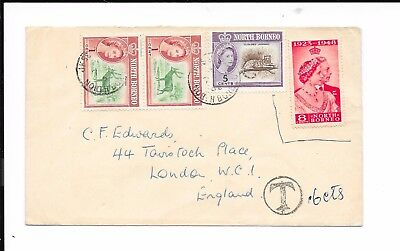 North Borneo 1962 To Pay 16 Cents Cover