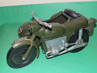 CHERILEA Vintage German Motorcycle and Side Car Action Man made in England