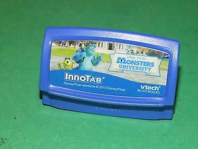 Vtech INNOTAB Disney Pixar MONSTERS UNIVERSITY Game Cartridge 1 2 3 3S