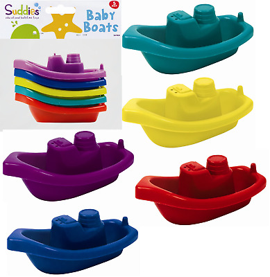 Baby Bath Time Boats 5 PK,Bath Tub Activity Water Fun Floating Boats Toddlers