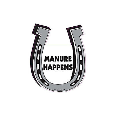 Manure Happens Horse Horseshoe Car Magnet