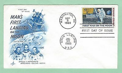 mjstampshobby 1969 US FDC First Landing on the Moon Cover VF Cond (Lot2386)