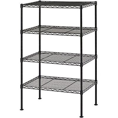 Muscle Rack 20 W X 12 D X 32 H Four-Level Wire Shelving, Black