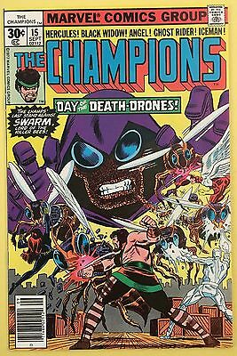 The Champions 15 (1977) Swarm Marvel Comics