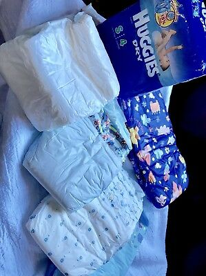 Vintage Lot Of various Boy's Plastic Type Disposable Diapers