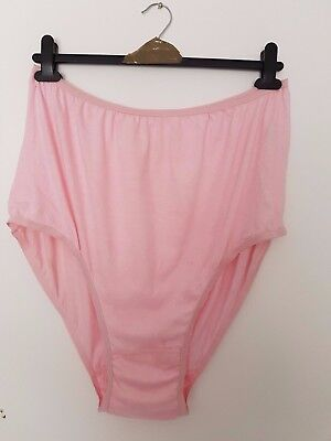 Vintage Large Pink  Knickers By Shapely Lady New Size 36 / 38 100% Cotton