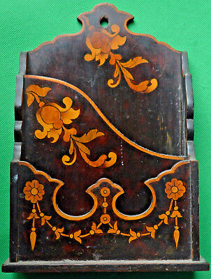 Excellent Edwardian marquetry inlaid letter rack