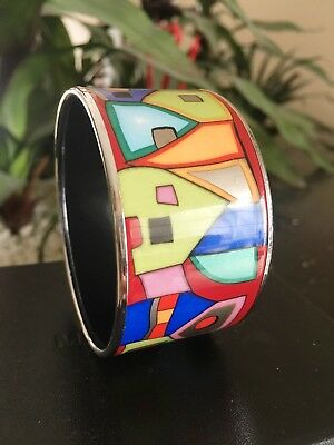 """€ 850 FREY WILLE Bordered Bangle Diva """"Street Rivers"""" Used SALE"""