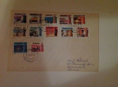 rhodesia/zimbabwe fdcs 1985 2nd definitive full set x 22 stamps x 2 covers