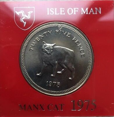 Isle Of Man IOM Manx Cat 1975 Crown, Uncirculated And Boxed