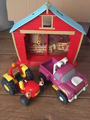 Tractor Tom, Buzz & Rev Farm and Vehicle Bundle and farm house good condition