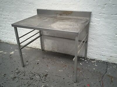 Stainless steel kitchen catering preparation table worktop