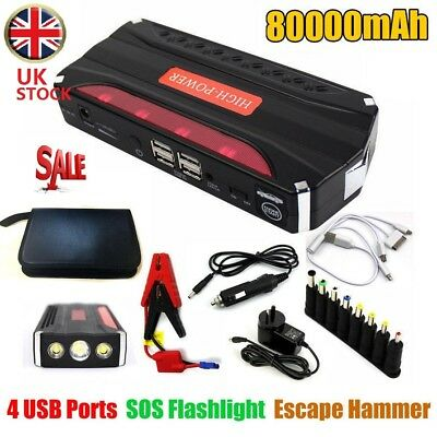 Heavy Duty 80000 mAh Portable Car Emergency Charger Jump Starter USB Power Bank