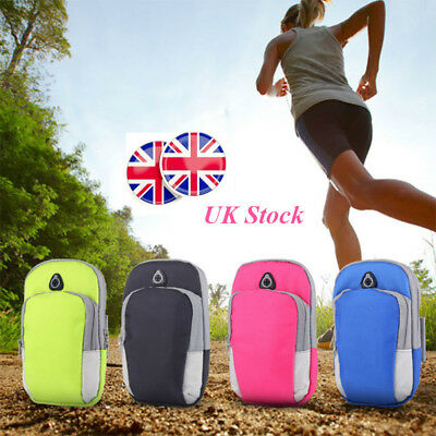 UK Gym Cycling Jogging Running Wrist Pouch Mobile Cell Phone Arm Band Bag Wallet