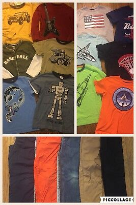 Boys Size 7 All Gymboree Lot Of 17 Shirts Pants Tops T Shorts Fall Winter