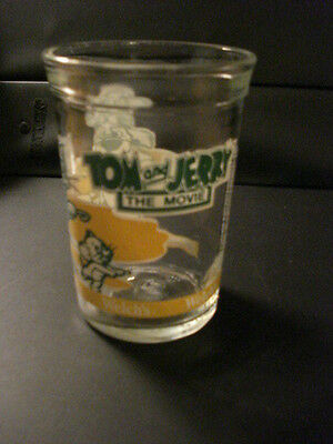 """Tom & Jerry """"The Movie"""", Vintage Collectible Welch's Glass"""