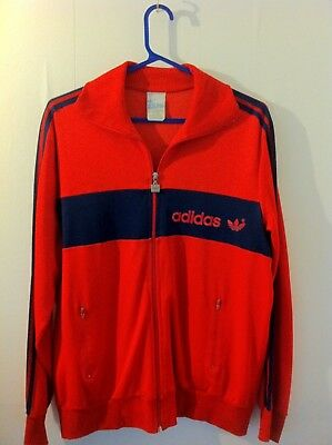 Vintage 1970s Adidas Tracksuit Top, Large Great Condition.