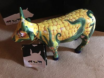 "Cow Parade Figurine "" Corn on the Cow "" ( #7335 - Retired )"