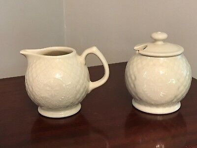Longaberger Collector Club Sugar And Creamer Set ~ USA never used!