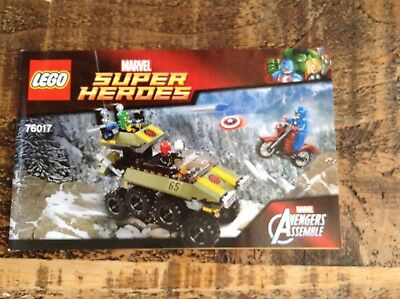 Lego Marvel Instruction booklet for set 76017 (Captain America vs Hydra)