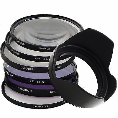 Kit Filtro UV 62mm Polarizzatore Star Close Up Skylight FLD 62 mm Paraluce