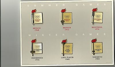 1896-1996 Centennial Olympic Collection Of 6 Pins