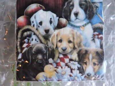"Beverage NAPKINS 10"",Party, Puppy Dogs Galore. 2 ply, 30 count pkg."