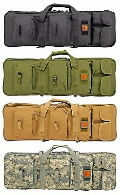 """LOST WOODS 32"""" Tactical M4 AR15 Range Rifle Bag Backpack Carry Case w/ Pockets"""