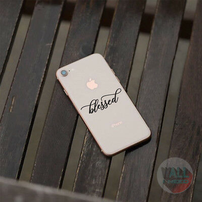 iPhone Sticker Blessed iPhone Decal Inspirational Stickers For iPone 8 iPhone X