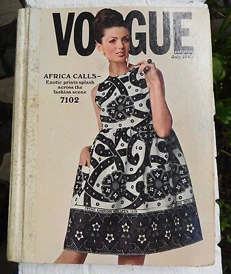 Vogue 60's Mod Fashion CATALOG - July, 1964 Large Store Counter Pattern Book