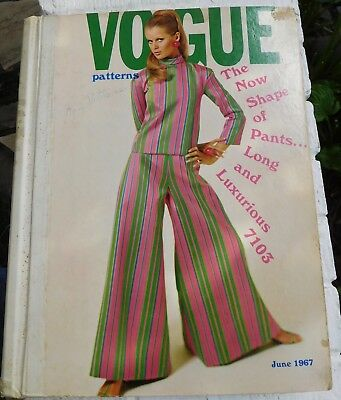 Vogue 60's Mod Fashion CATALOG - June 1967 Large Store Counter Pattern Book