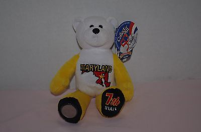 "#7 Maryland Coin Bear State Quarter Plush Collectible 9"" Bear Limited Treasures"