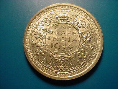 British India - Silver - 1944 Rupee In Excellent Condition
