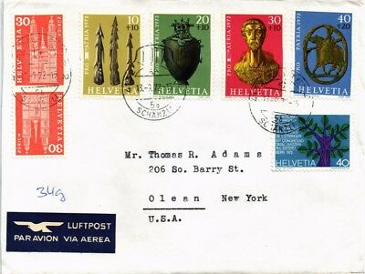 Dr Jim Stamps Airmail Tied Multi Franked Switzerland Cover 1972