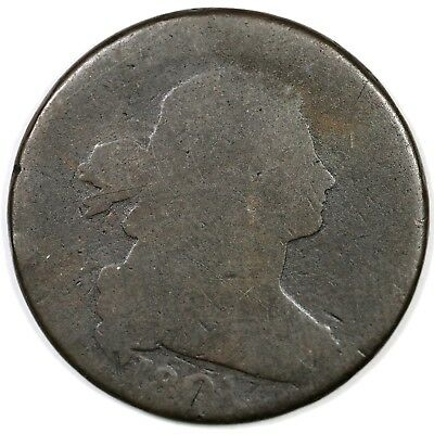 """1801 s-219 R2 """"3 Error Reverse"""" Draped Bust Large Cent Coin 1c"""